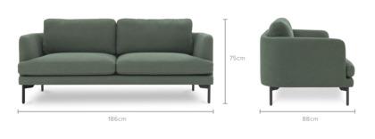 dimension of Pebble 2 Seater Sofa