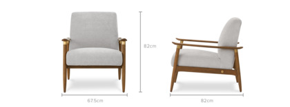 dimension of Ralph Armchair