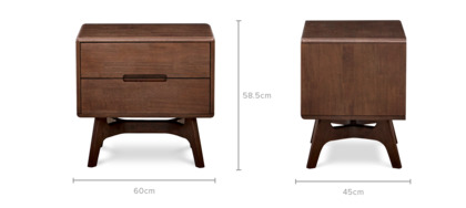 dimension of Carrie Bedside Table