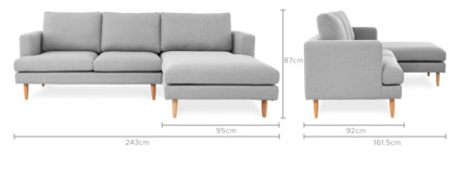 dimension of Tana Sofa Sectional