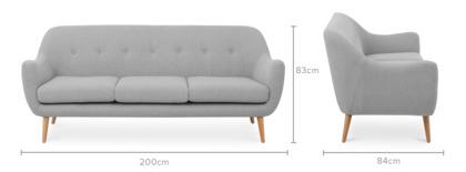 dimension of Capella 3 Seater Sofa