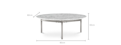 dimension of Omega Coffee Table