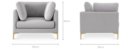 dimension of Adams Armchair