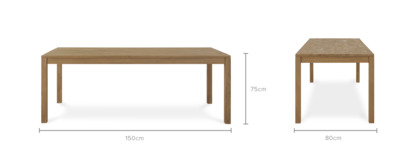 dimension of Logan Dining Table