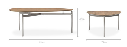 dimension of Alpha Coffee Table