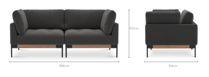 dimension of Ethan 2 Seater Sofa