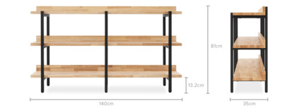 dimension of Albert Shelf, Low