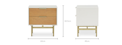 dimension of Isla Bedside Table