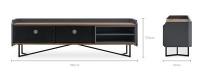 dimension of Hex TV Console, 180cm