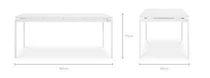 dimension of Arvid Dining Table, 180cm