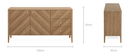 dimension of Charlie Sideboard, 160 cm