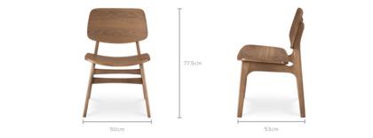 dimension of Joshua Chair, Walnut
