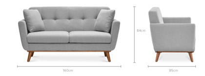 dimension of Hans 2 Seater Sofa
