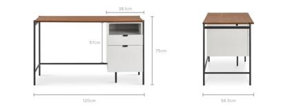 dimension of Otto Office Desk
