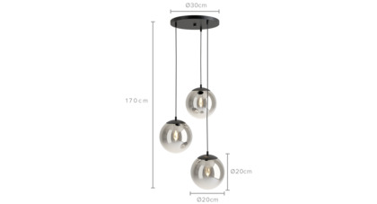 dimension of Tommy Cluster Pendant Light