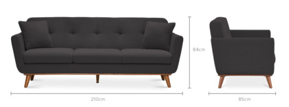 dimension of Hans 3 Seater Sofa