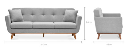 dimension of Hans 3 Seater Sofa