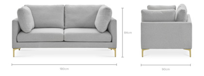 dimension of Adams 2 Seater Sofa