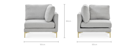 dimension of Adams Corner Sofa