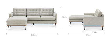 dimension of Isaac Reversible Sectional Sofa