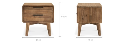 dimension of Seb Bedside Table