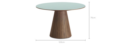 dimension of Theo Round Dining Table