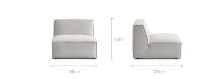 dimension of Jonathan Armless Sofa