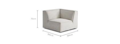 dimension of Jonathan Corner Sofa