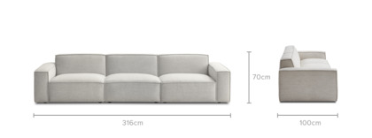 dimension of Jonathan Extended Sofa
