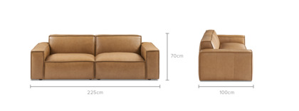 dimension of Jonathan Leather Sofa