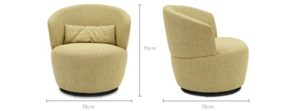 dimension of Amber Swivel Chair