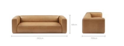 dimension of Mateo Leather Sofa