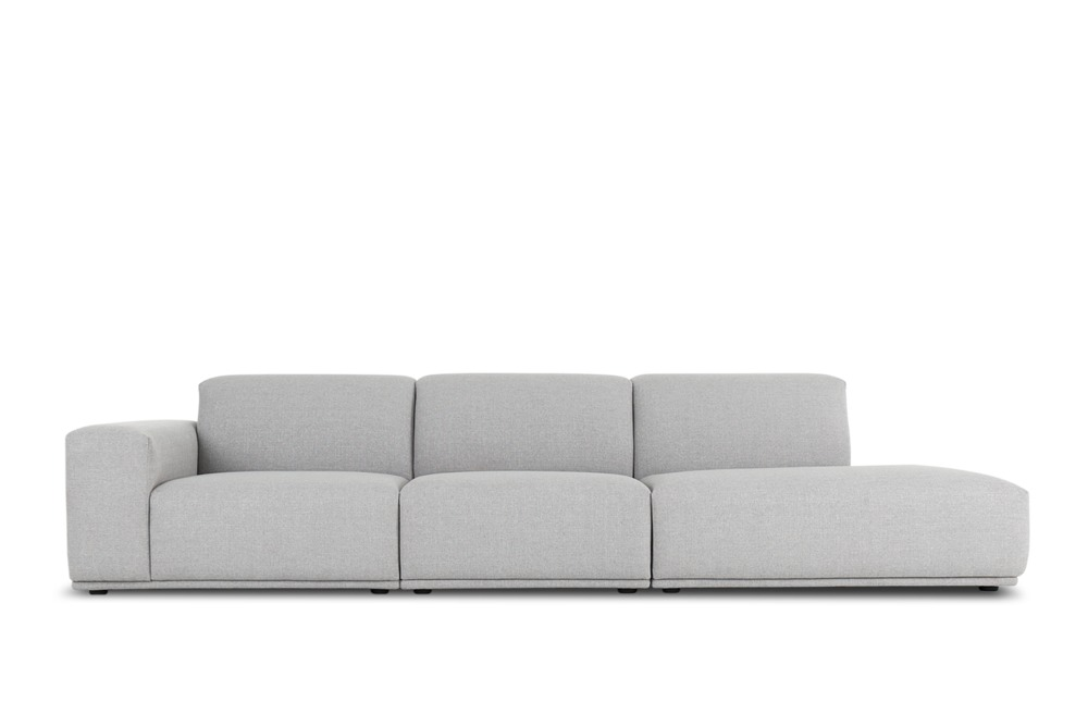 Todd Side Chaise Extended Sofa Right Facing Light Grey