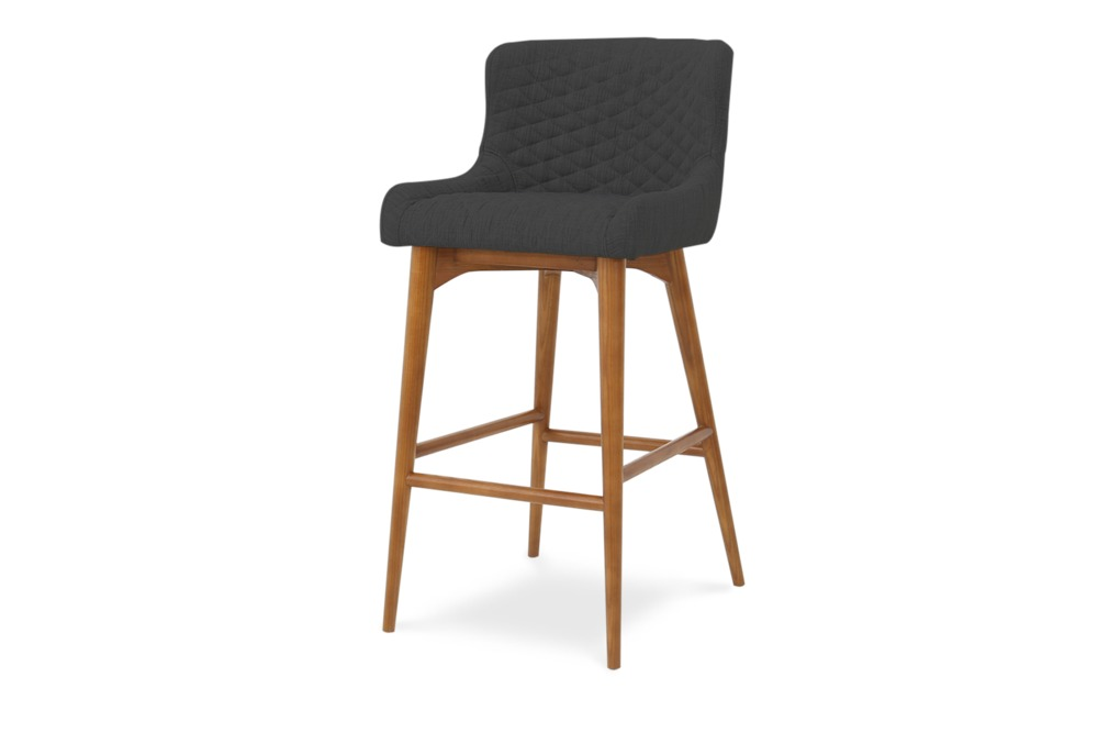 Roselyn Bar Stool Dark Grey Castlery Australia