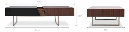 dimension of Hermen Coffee Table