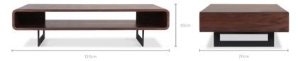 dimension of Peri Coffee Table