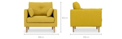 Dimension Of Chloe Armchair