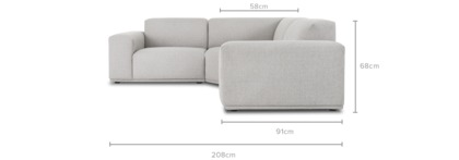 dimension of Todd Sectional Sofa