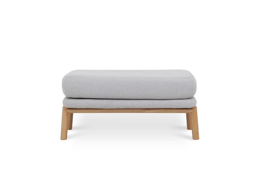 Bambu Ottoman, Dove Grey