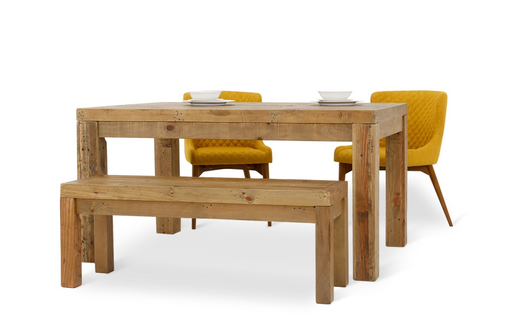 Hunter Dining Table With Bench And 2 Roselyn Chairs Castlery