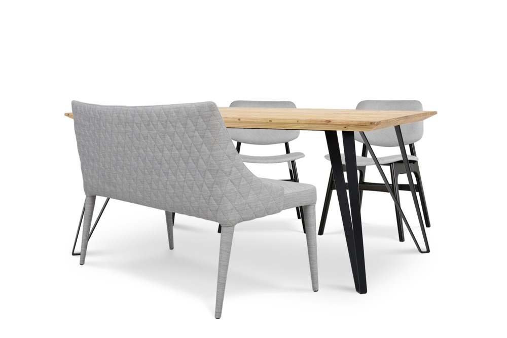 Louis Dining Table With Vera Bench And 2 Joshua Chairs Castlery