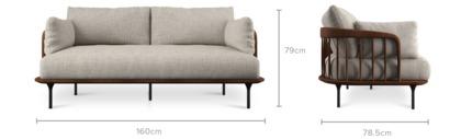 dimension of Wayne 2 Seater Sofa