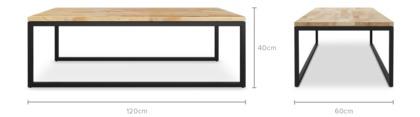 dimension of Albert Coffee Table, 120cm