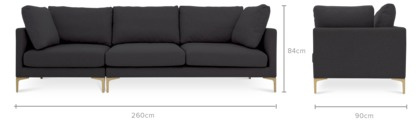 dimension of Adams Extended Sofa