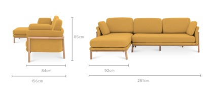 dimension of Bambu Sofa Sectional