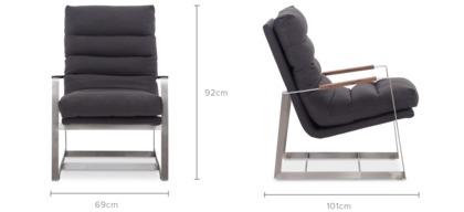 dimension of Denver Armchair