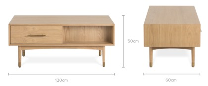dimension of Chelsea Coffee Table, 120cm