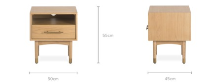 dimension of Chelsea Bedside Table