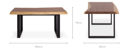 dimension of Alba Dining Table