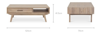 dimension of Miles Coffee Table, 120cm